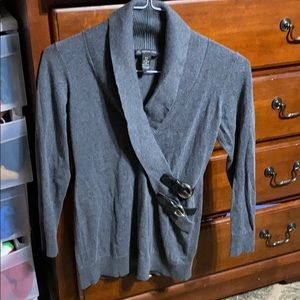 INC grey sweater size small